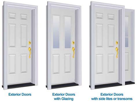 exterior door types sill to sash