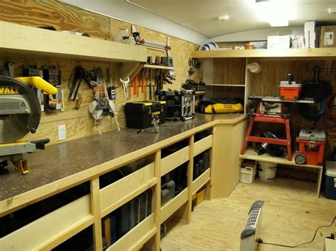 setting up a woodworking shop contractor work trailer set ups show us your shop
