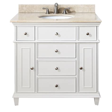 Ratings For Kitchen Faucets avanity windsor 36 inch white traditional single bathroom