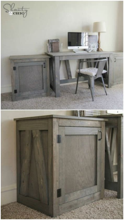 diy rustic desk 50 decorative rustic storage projects for a beautifully