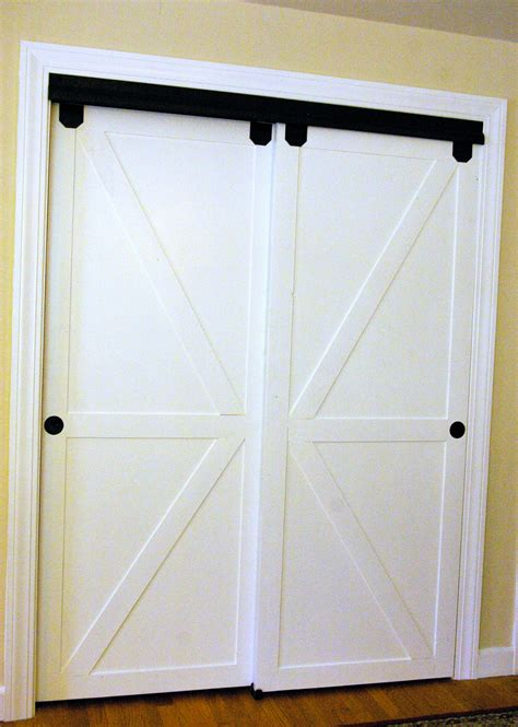 sliding barn style closet doors remodelaholic how to make bypass closet doors into