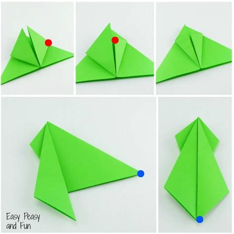origami step by step origami frogs tutorial origami for easy peasy and