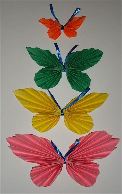 paper butterfly craft ideas folded paper butterfly crafts craft ideas