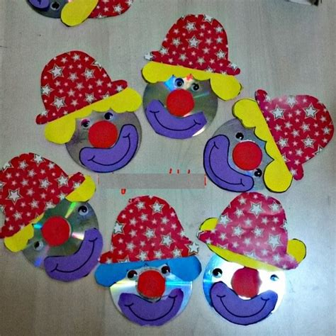 clown crafts for crafts actvities and worksheets for preschool toddler and