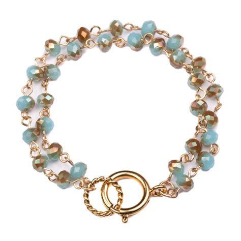 6mm bead bracelet luxe 6mm turquoise beaded charm holder bracelet beaucoup