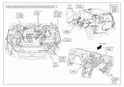 car manuals free online 2002 mazda mpv engine control 2003 mazda tribute engine diagram automotive parts diagram images