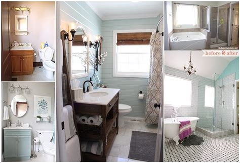 Bathroom Makeover Photos by 20 Beautiful Before And After Bathroom Makeovers