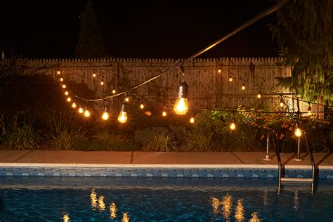 clear outdoor string lights 100 ft commercial outdoor string lights drop socket