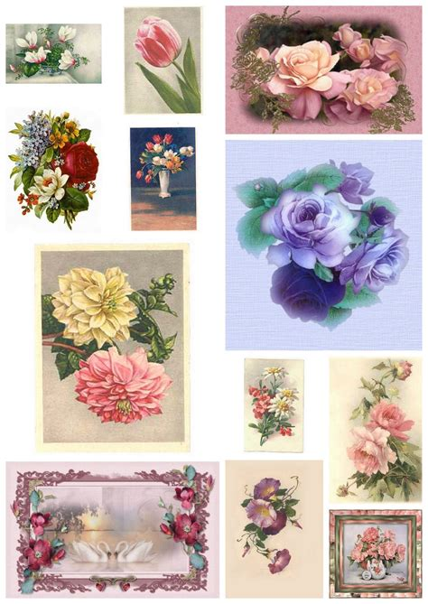 prints for decoupage artbyjean paper crafts digital collage sheet of vintage