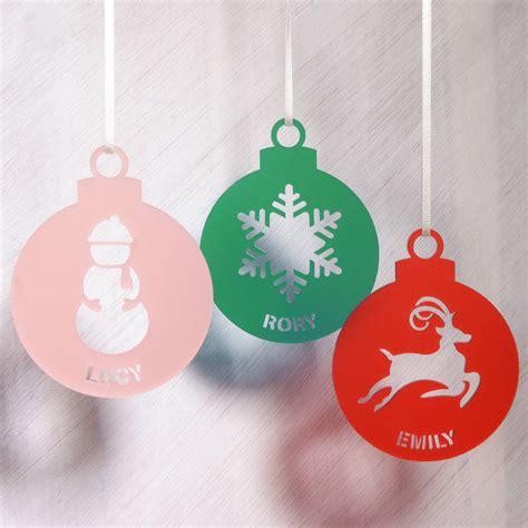 acrylic decorations personalised acrylic tree decoration by