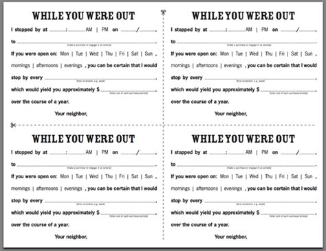 while you were out 100 phone message template word telephone call log