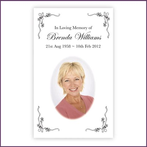 how to make a memorial card memorial cards from sprinter memorial cards keepsakes of
