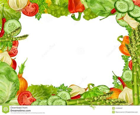 vegetables set frame stock vector image 41638487