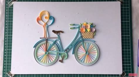 Frame A Mirror by How To Make Quilling Bicycle With Flowers Crazzy Crafts
