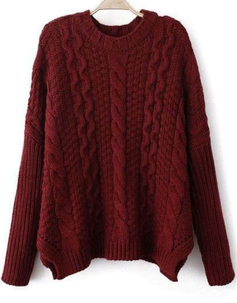 oversized chunky cable knit sweater sweater burgundy sweater cable knit chunky cable knit
