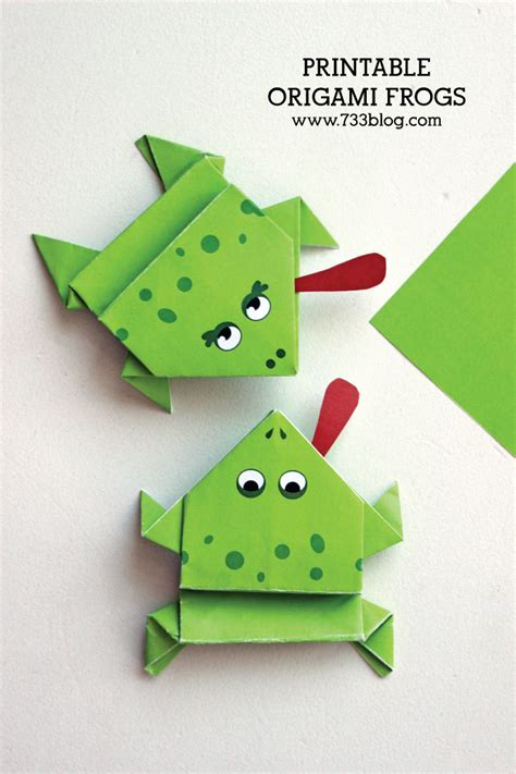 origami printouts printable origami frogs inspiration made simple