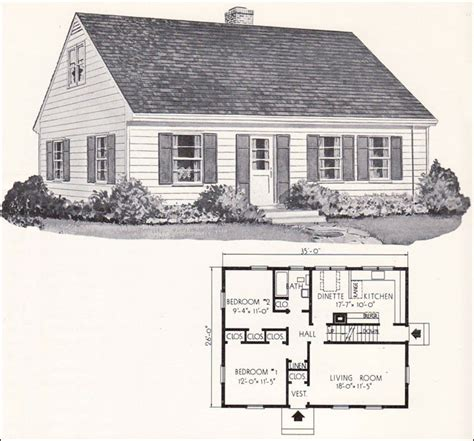 small cape cod house plans 1961 weyerhauser home plans design no 4130 cape cod style small houses mid century
