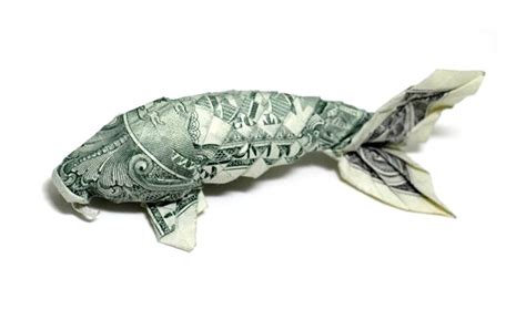 origami dollar koi carp from the dollar