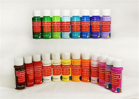 acrylic paint in plastic craft smart delta acrylic paint 2 fl oz 1 bottle 40