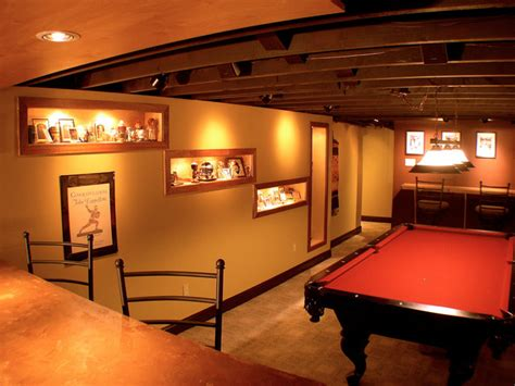 sports themed basement ideas sports themed cave traditional basement