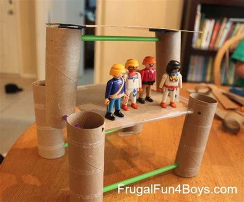 building crafts for building activity for straws and paper towel rolls
