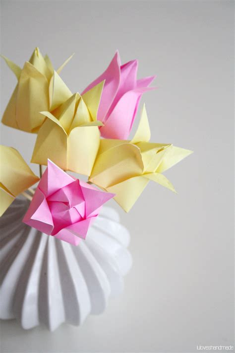 paper tulip origami luloveshandmade happy easter handmade origami paper