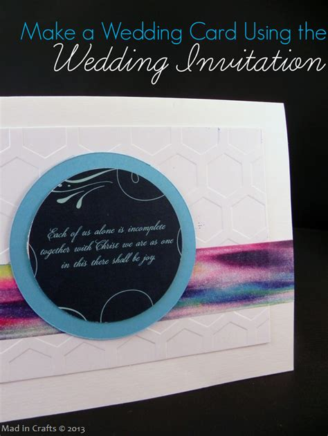 make a wedding card make a wedding card from the wedding invitation