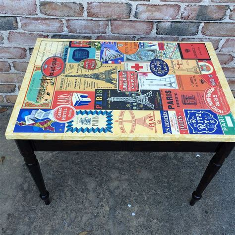 decoupage on wood table hometalk decoupage plain table for a new look
