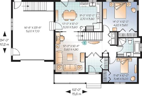 2 bedroom ranch house plans 2 bedroom ranch with vaulted spaces 21877dr 1st floor master suite butler walk in pantry