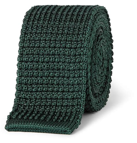 knitted green tie green knit tie lanvin knitted silk tie where to