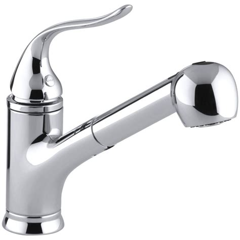 kholer kitchen faucets kohler faucet k 15160 cp coralais polished chrome pullout spray kitchen faucets efaucets