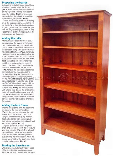 bookcase woodworking plans bookcase plans woodarchivist