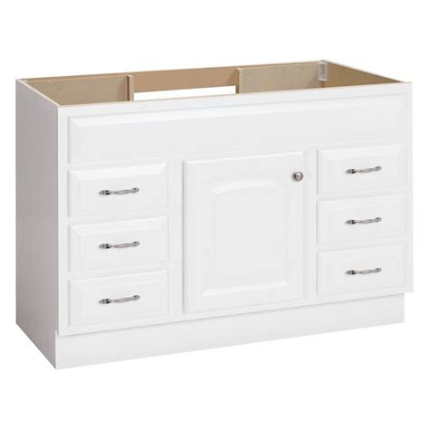 lowes white bathroom vanity shop project source white traditional bathroom vanity common 48 in x 21 in actual 48 in x 21