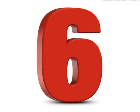 number six 3d numbers set psdgraphics