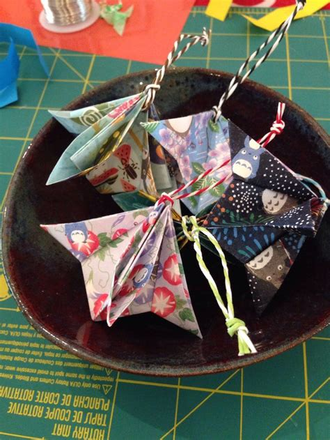 how to make origami ornaments 25 best ideas about fabric origami on fabric