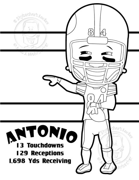 antonio brown free coloring pages