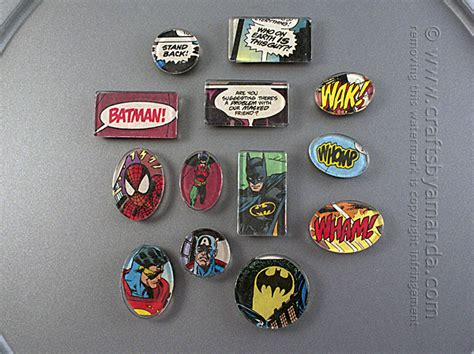 book crafts for comic book magnets magnets for your fridge