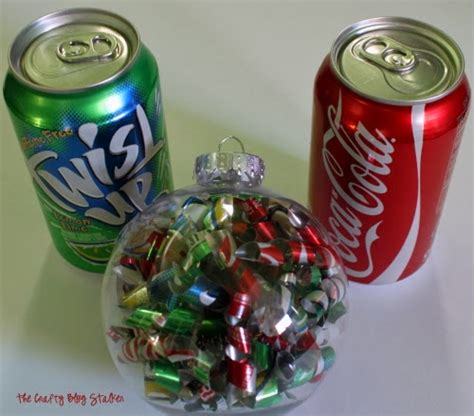 soda can ornaments how to make a soda can ornament the crafty