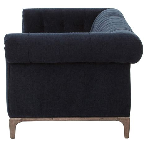 navy tufted sofa dorian regency navy velvet tufted sofa kathy