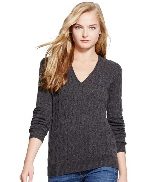 cable knit ralph sweater polo ralph v neck cable knit wool sweater