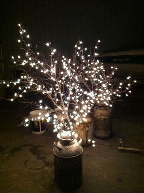 lights for decorating wedding diy why spend more milk cans branches white lights