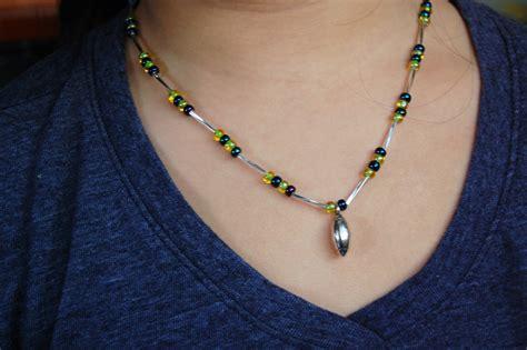 diy beaded necklace diy football beaded jewelry