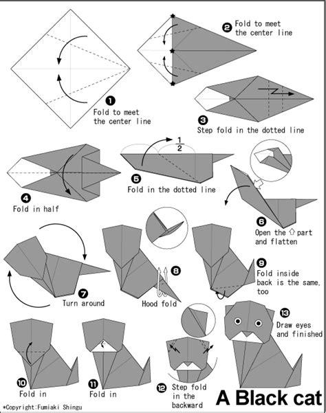origami cat how to origami origami cat