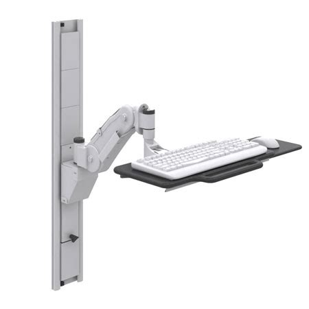 keyboard desk mount wall mount keyboard with articulating arm tray