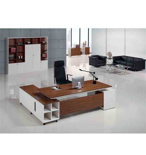 small executive desk modern walnut veneer and white small executive desk buy