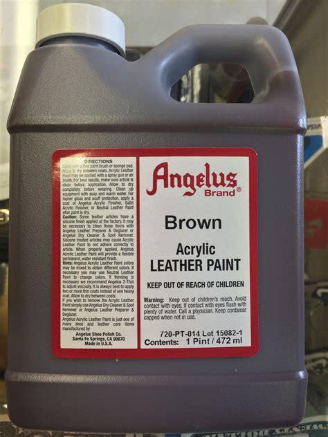 angelus paint vs angelus brown acrylic leather paint 1 pint jwong boutique
