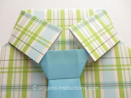 shirt and tie origami easy origami shirt with tie crafts