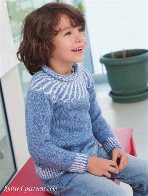 knit child sweater pattern child s yoke sweater knitting pattern free