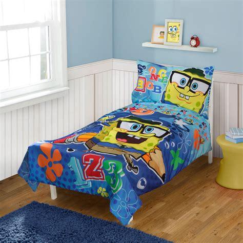 spongebob bed sets spongebob squarepants toddler bedding set school 123