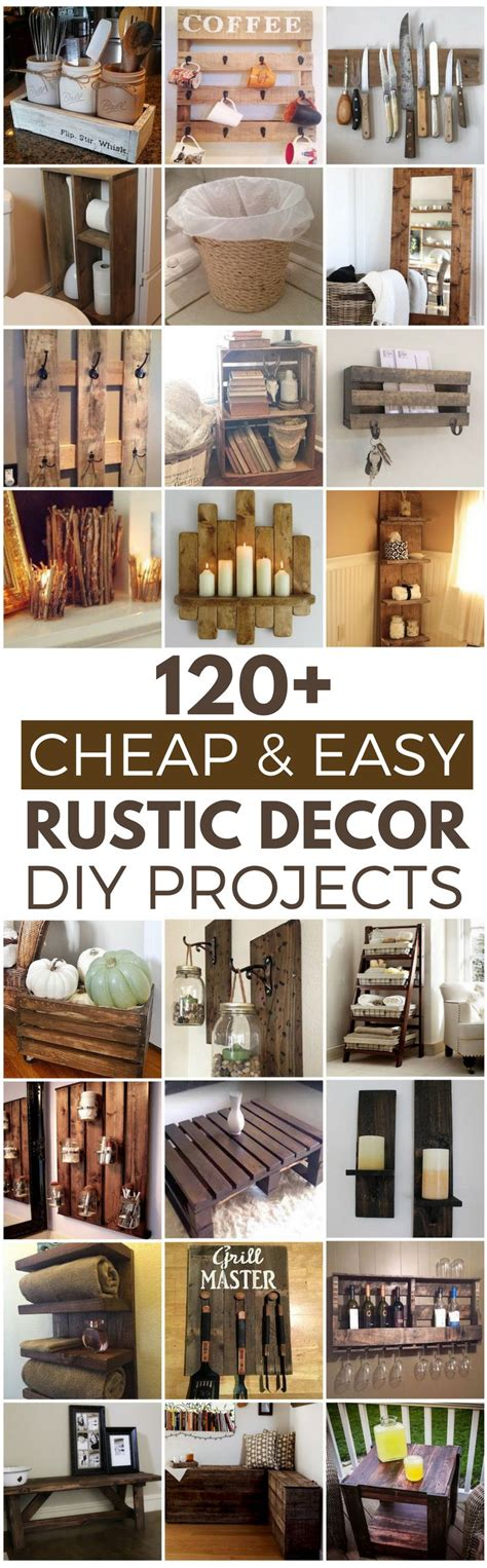 Easy And Cheap Home Decor Ideas 120 cheap and easy rustic diy home decor ideas rustic